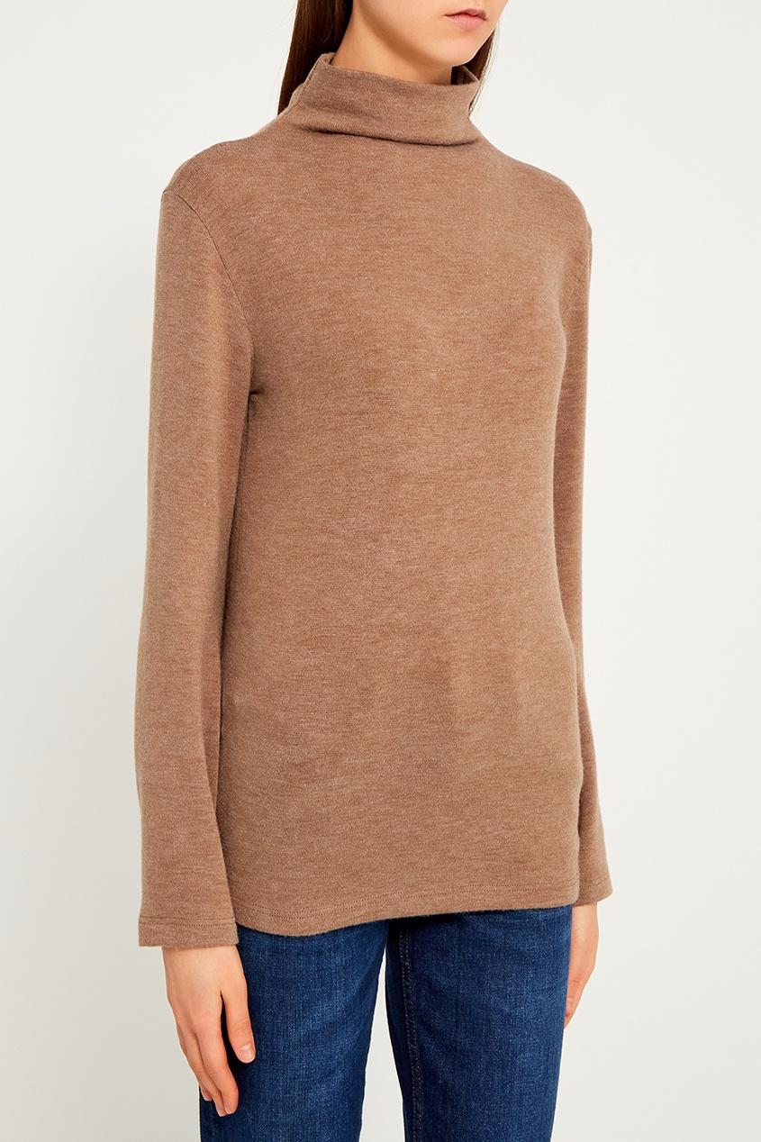 Бежевый свитер из шерстяного микса