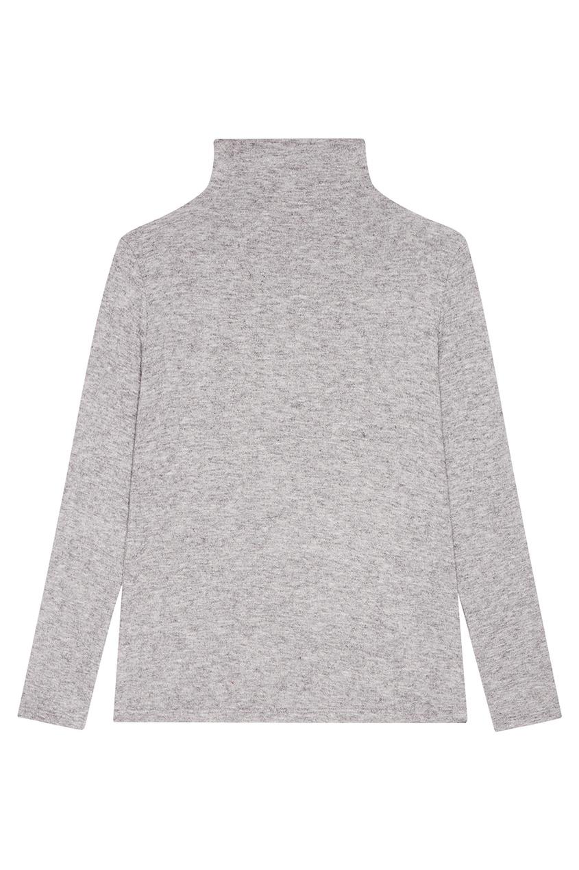 Серый свитер из шерстяного микса