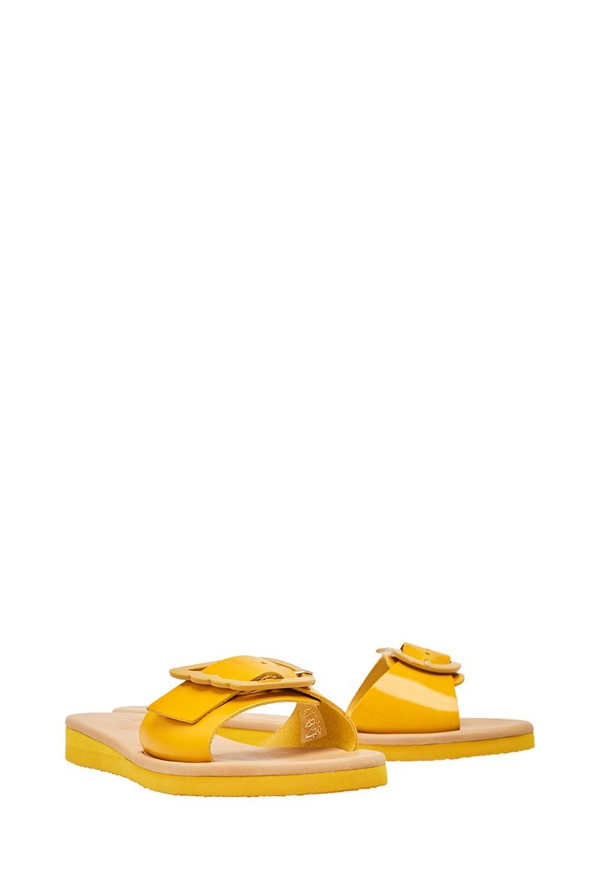 купить Ancient Greek Sandals Желтые сандалии из кожи дешево