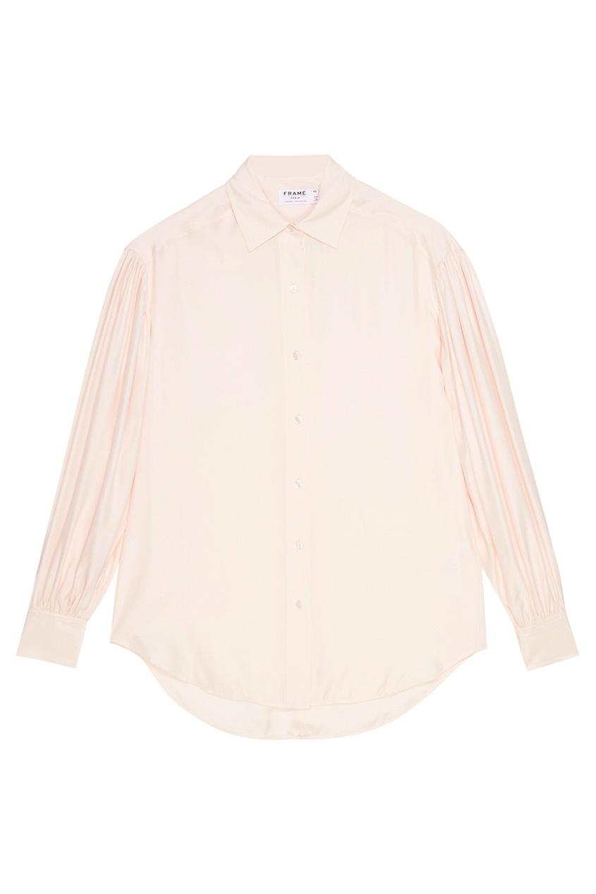 Frame Denim Розовая блузка из шелка