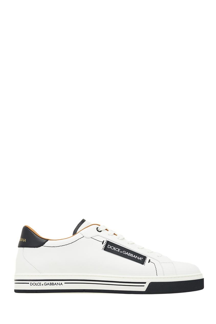 Dolce&Gabbana Белые кеды с логотипом