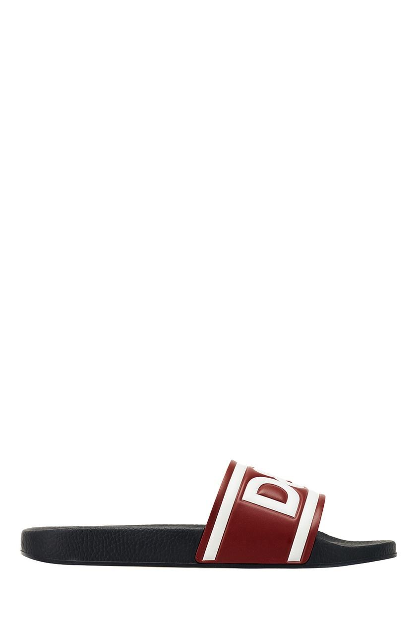 Комбинированные шлепанцы с логотипом