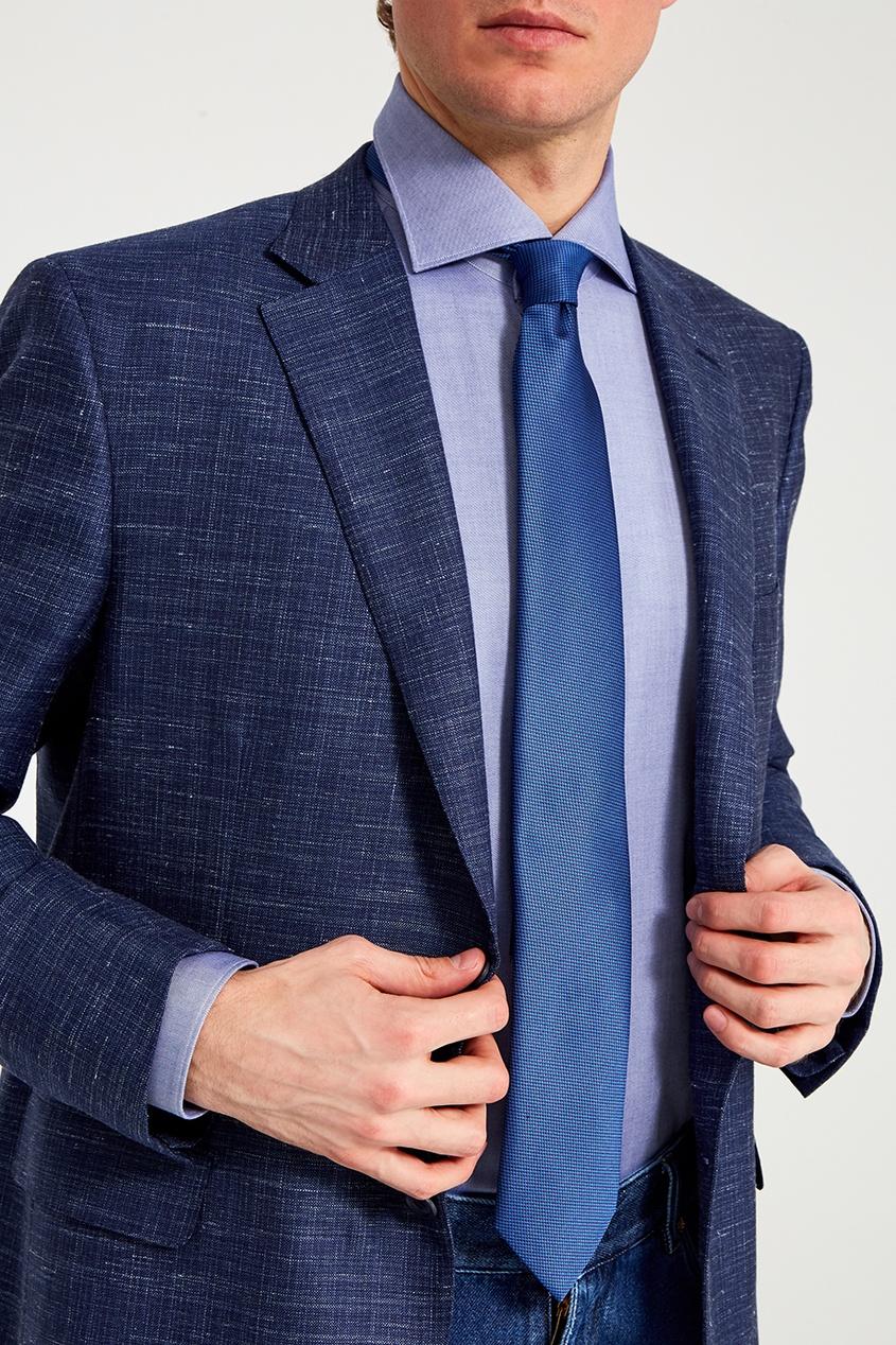 BRIONI Синий галстук из шелка