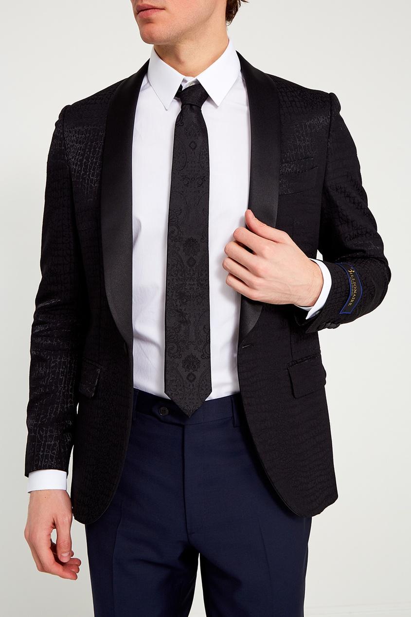 Billionaire Черный шелковый галстук джемпер michael kors michael kors mi186emzrk40