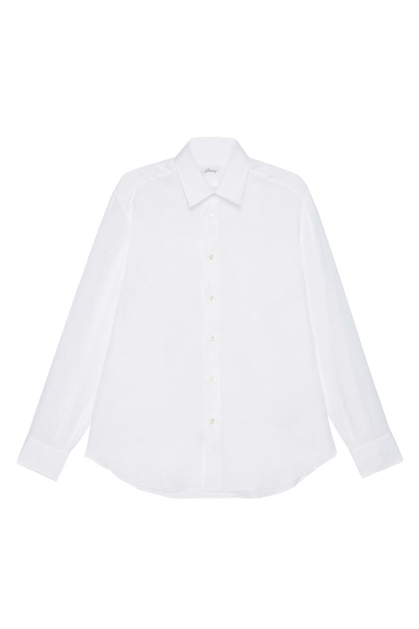BRIONI Белая льняная сорочка brioni спортивный костюм от brioni 72536