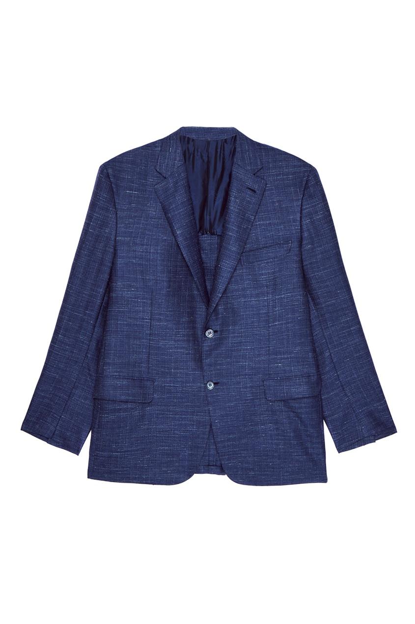 Синий пиджак из шерстяного микса