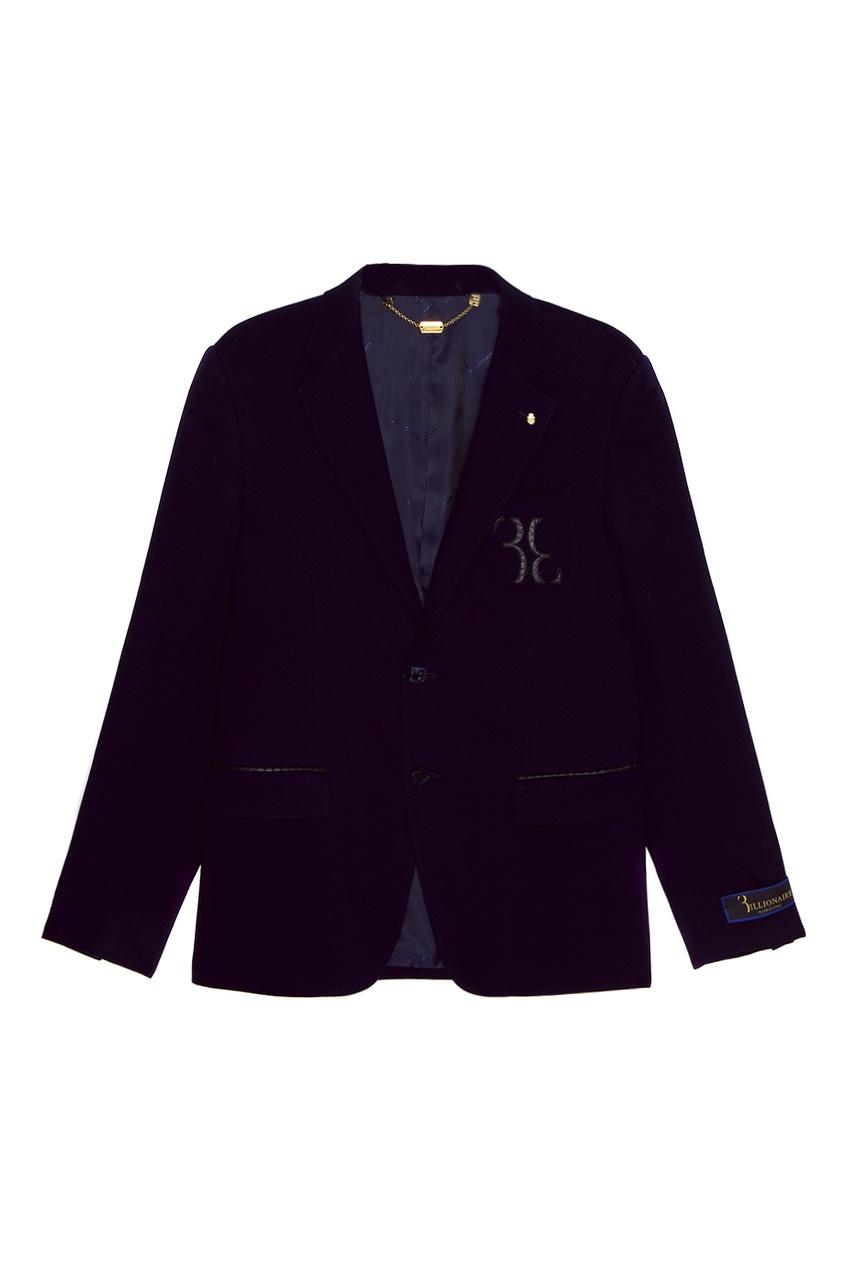 Синий хлопковый пиджак
