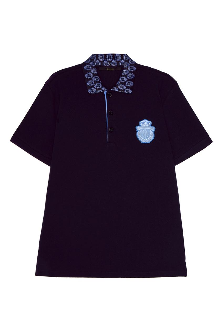 Billionaire Синяя футболка-поло из хлопка billionaire черные трусы из хлопка