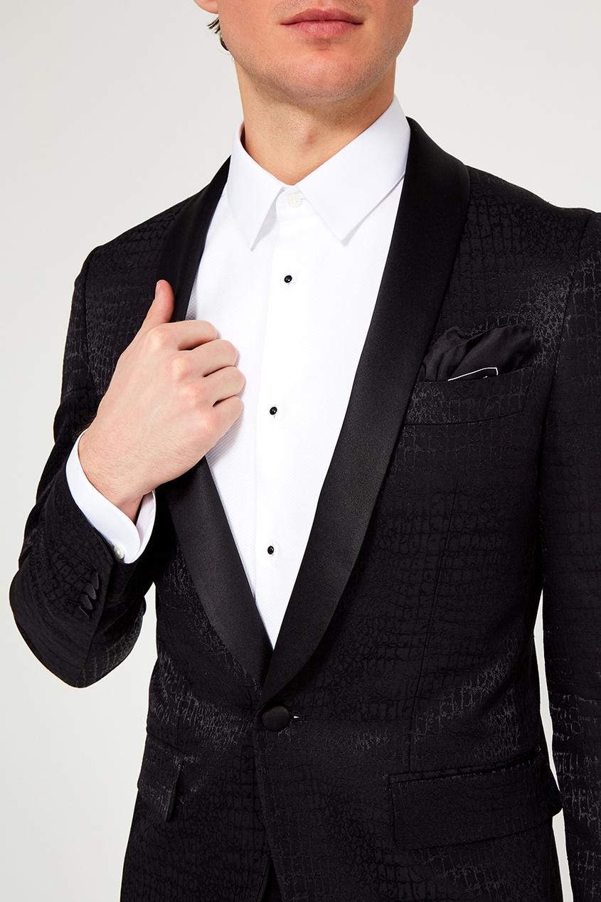 Dolce&Gabbana Черный шелковый платок фон для презентации черный