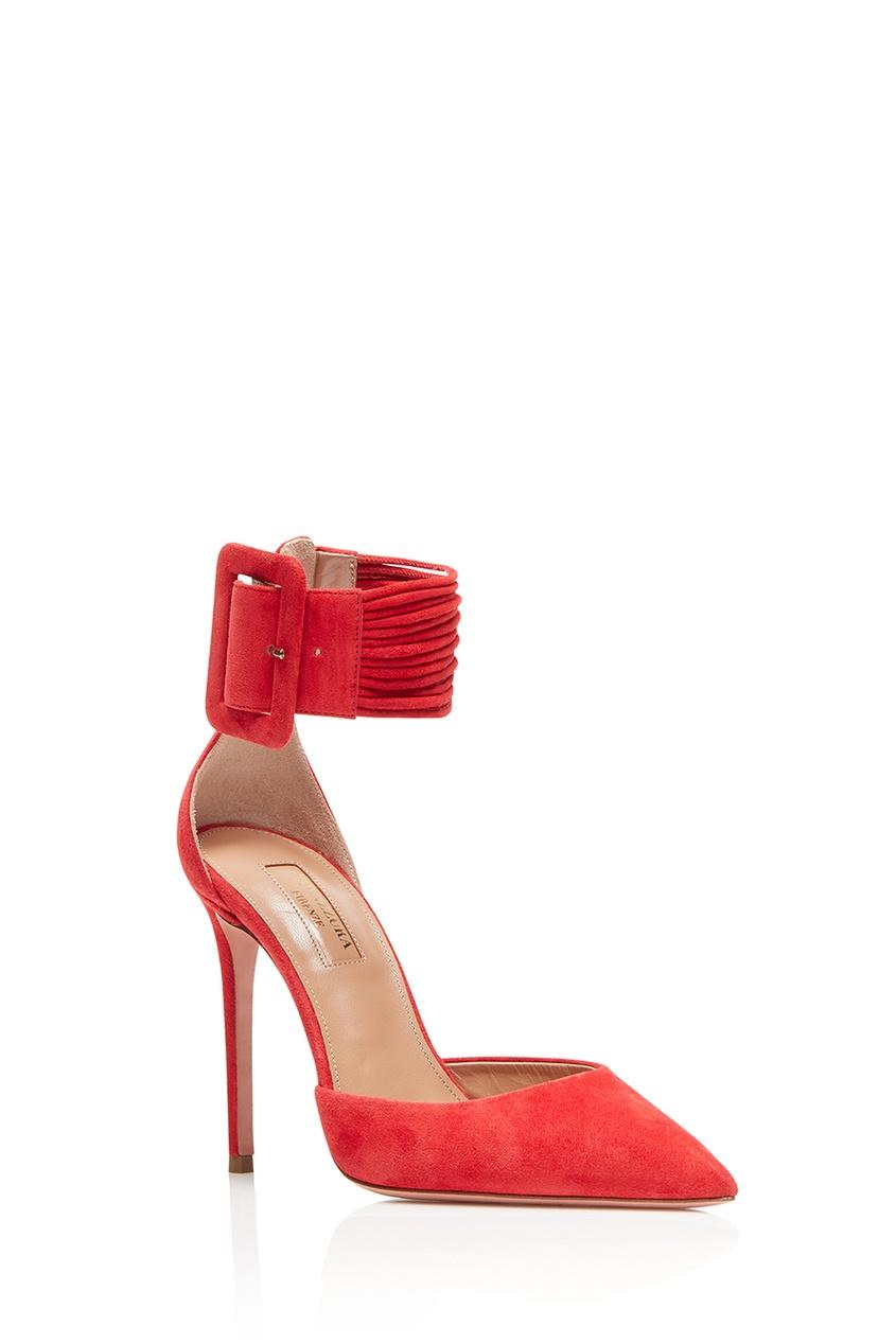 Красные замшевые туфли на шпильке Casablanca Pump 105
