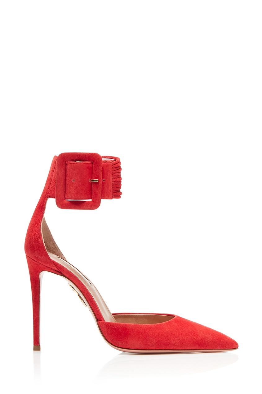 Купить со скидкой Красные замшевые туфли на шпильке Casablanca Pump 105