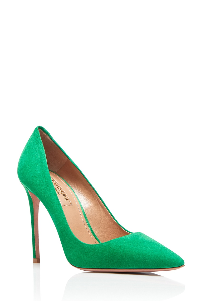 Aquazzura Зеленые туфли из замши Simply Irresistible Pump 105 simply irresistible