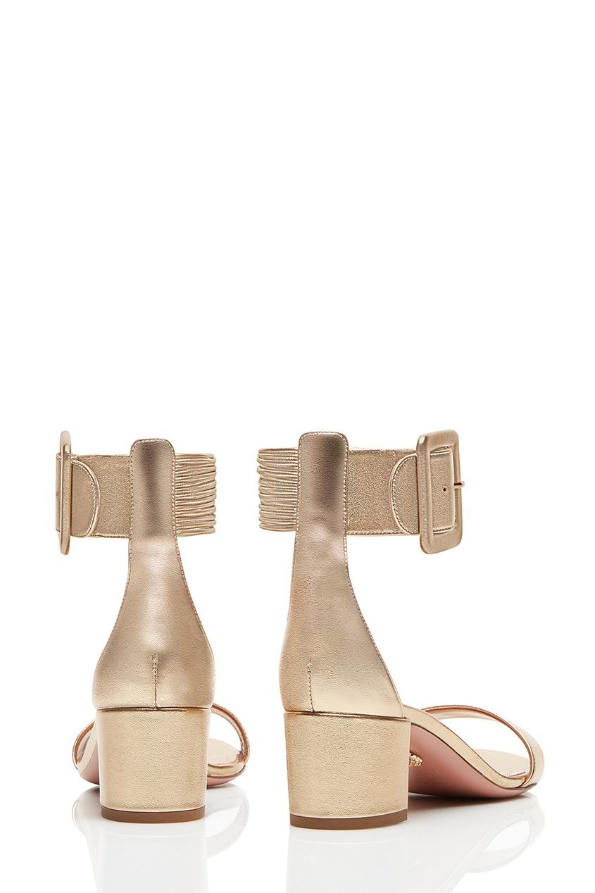 Золотистые босоножки с пряжкой Casablanca Sandal 50 от AIZEL