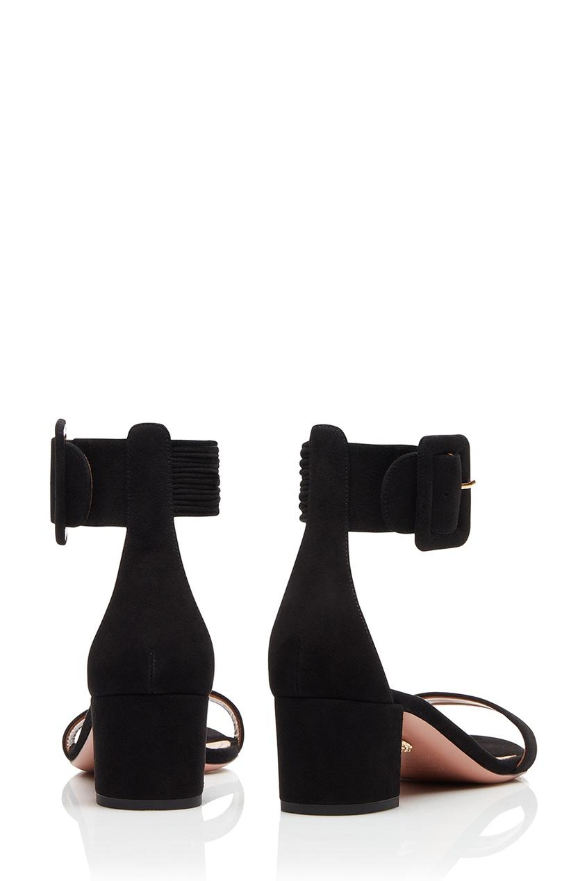 Черные замшевые босоножки с пряжкой Casablanca Sandal 50 от AIZEL