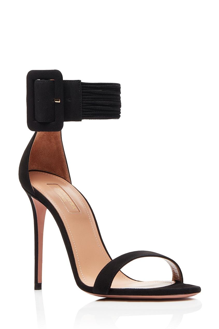 Замшевые босоножки на шпильке Casablanca Sandal 105