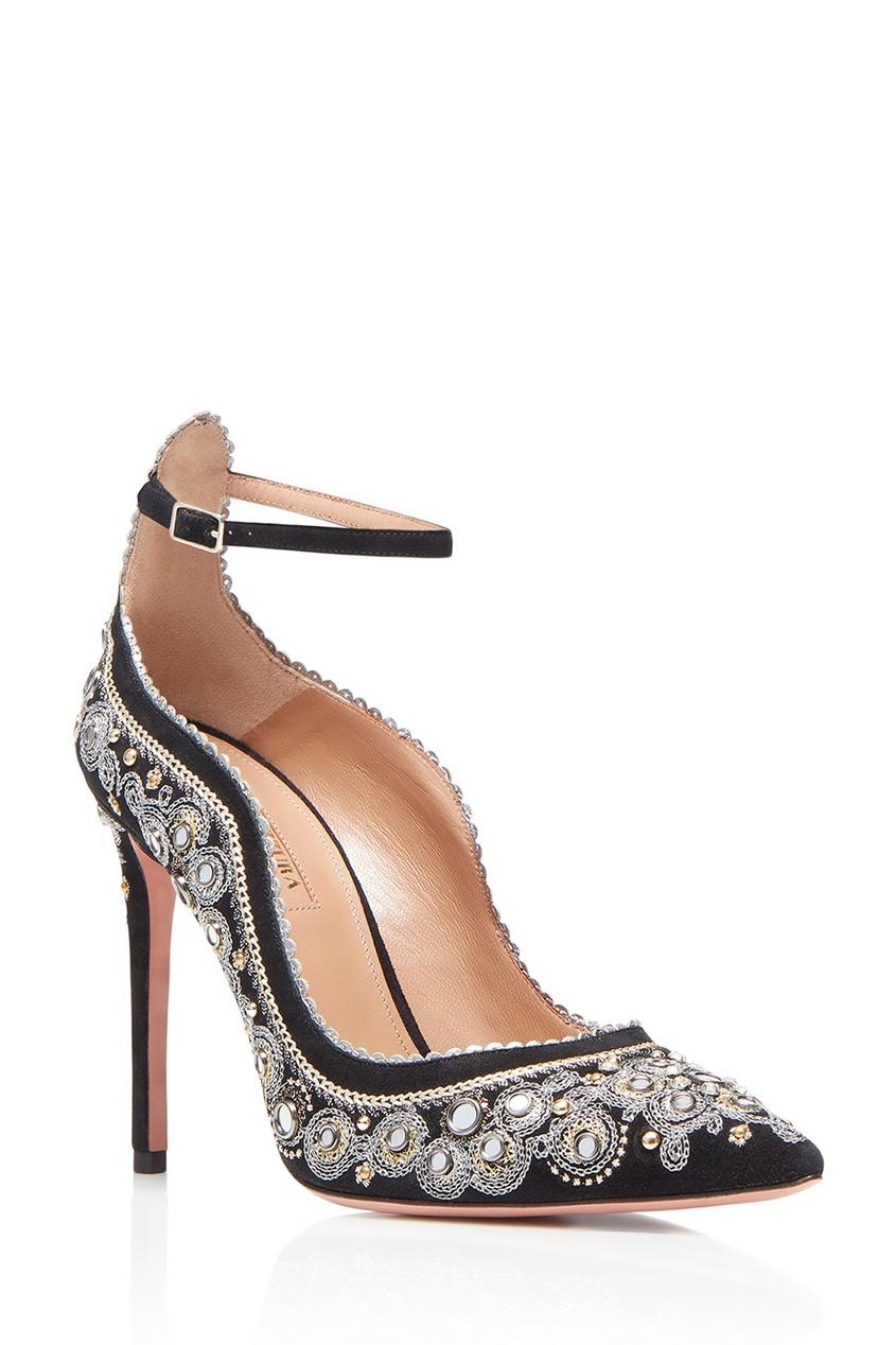 Замшевые туфли с вышивкой Jaipur Pump 105