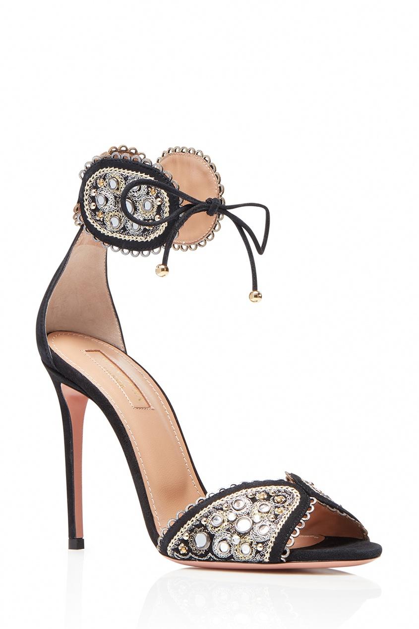 Замшевые босоножки с вышивкой Jaipur Sandal 105