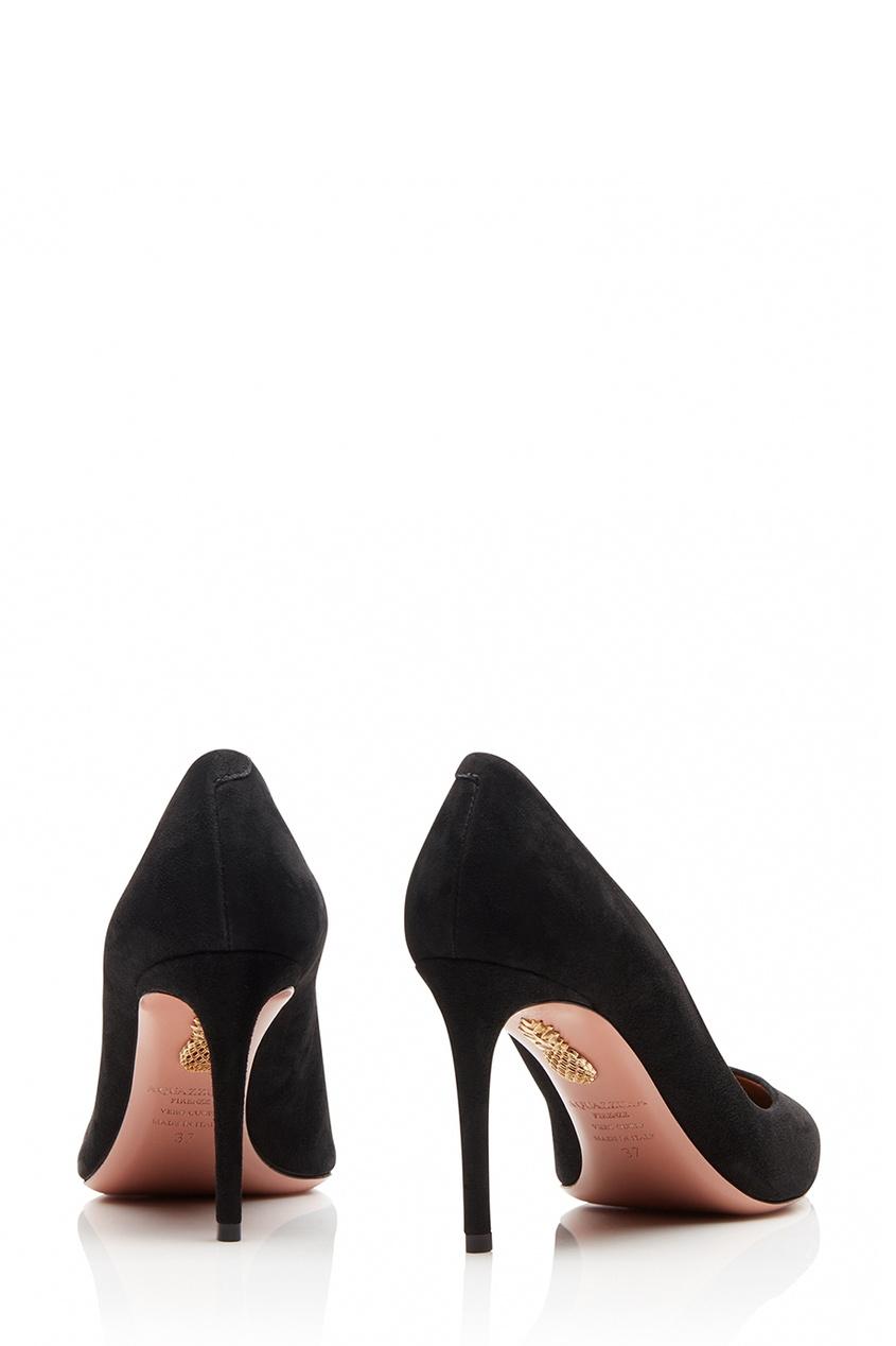 Aquazzura Черные туфли из замши Simply Irresistible Pump 85 simply irresistible