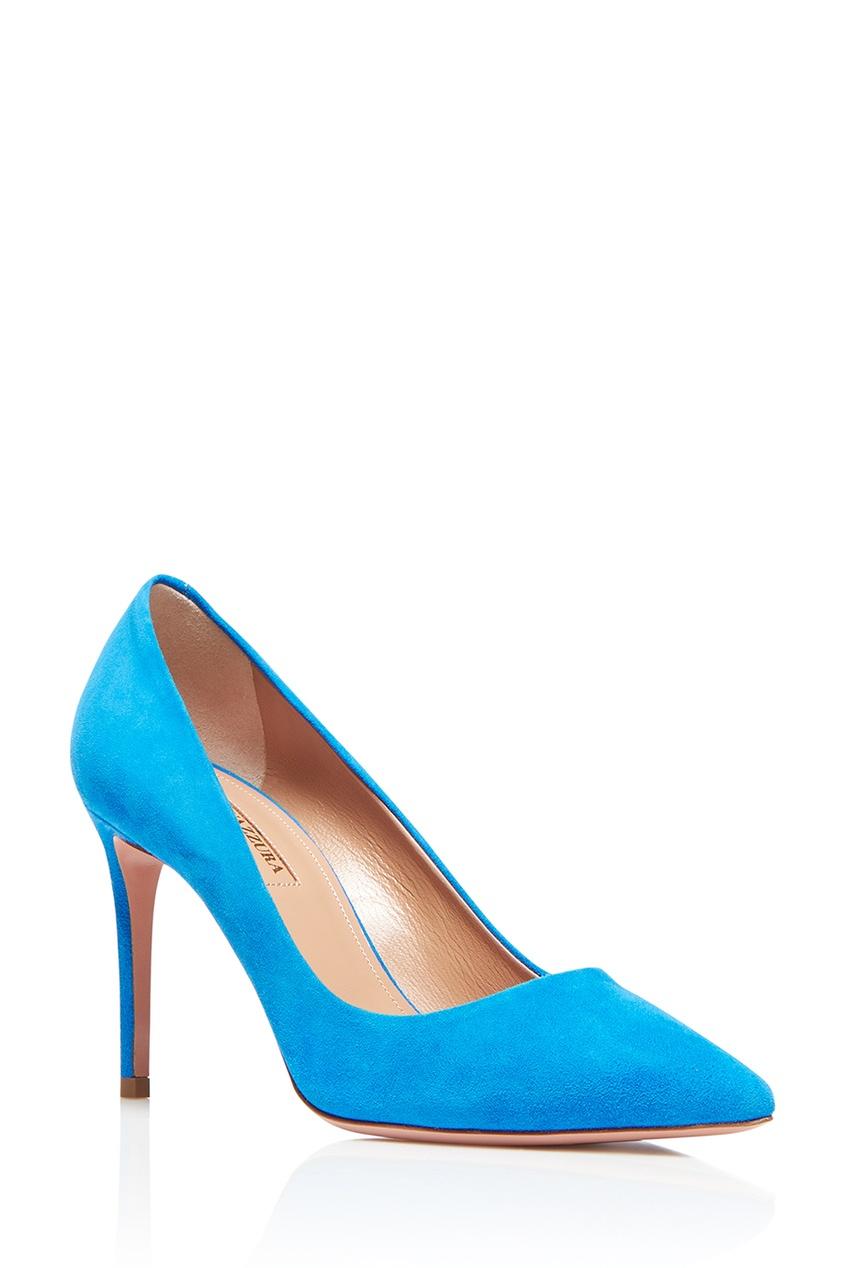 Aquazzura Голубые туфли из замши Simply Irresistible Pump 85 simply irresistible