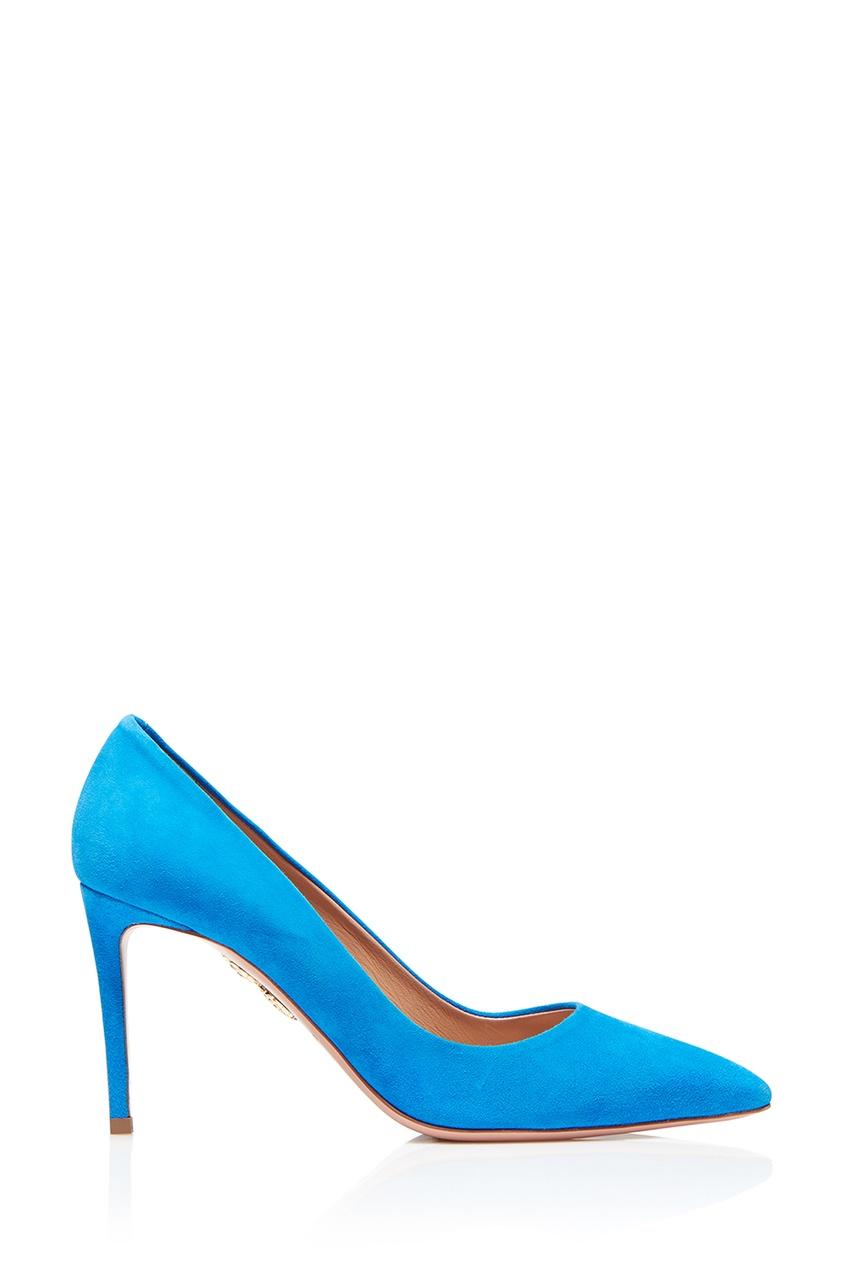 Aquazzura Голубые туфли из замши Simply Irresistible Pump 85