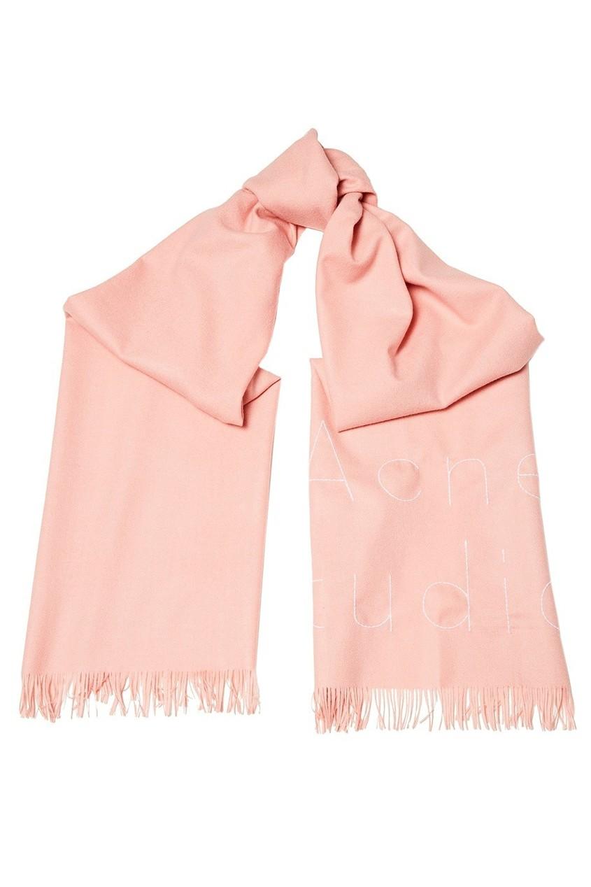 Acne Studios Розовый шарф с логотипом Ontario acne studios серый шарф в рубчик abby