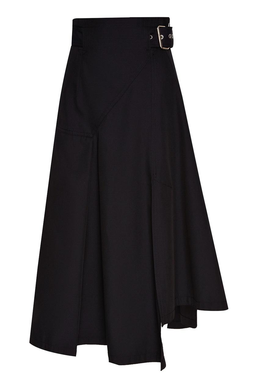 Асимметричная юбка с поясом