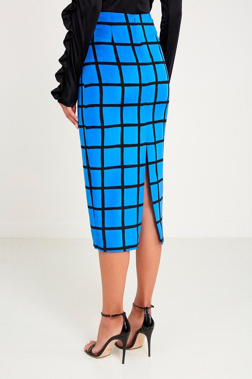 Diane von Furstenberg Шелковая юбка в клетку diane von furstenberg шелковая блузка gilmore habotai