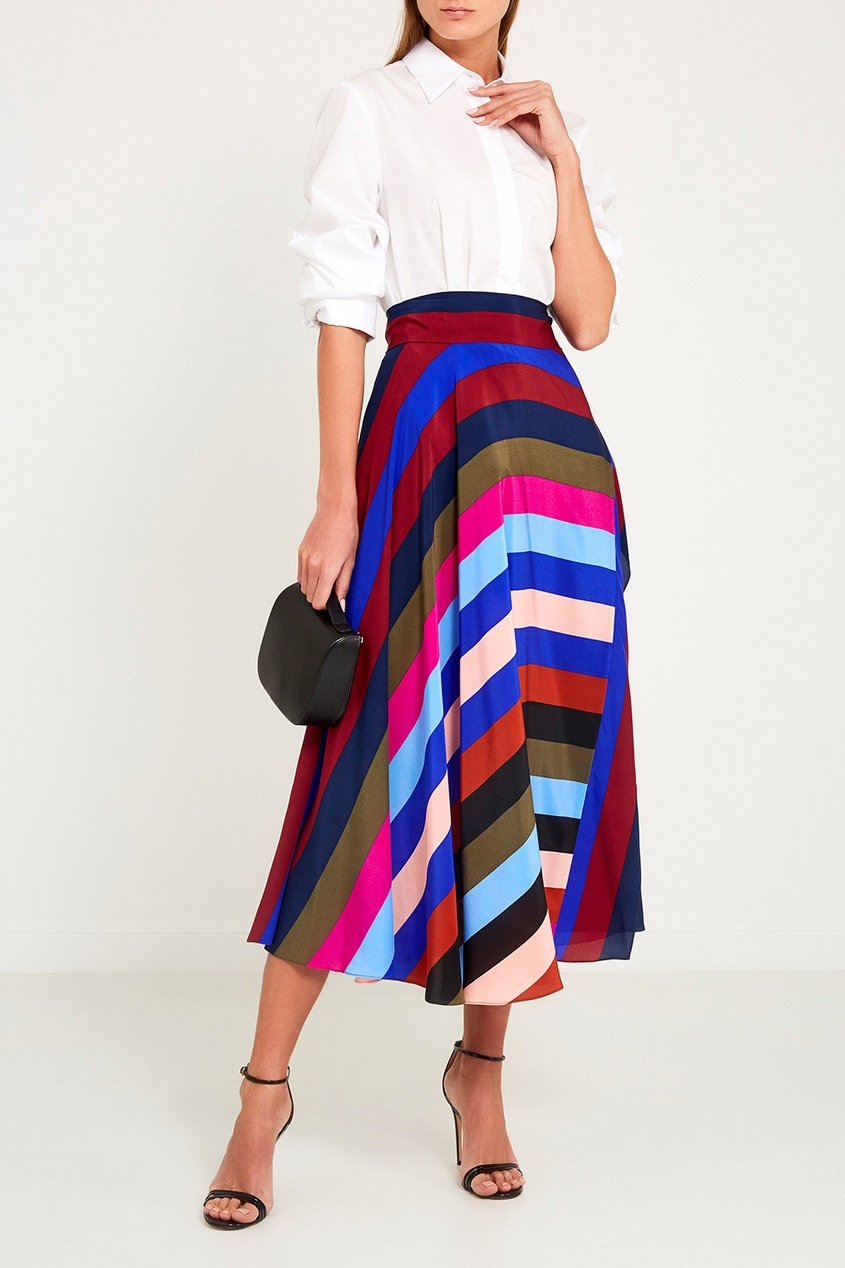 цены Diane von Furstenberg Шелковая юбка с запахом