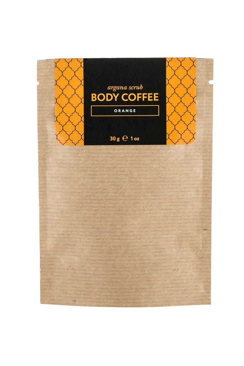 Huilargan Аргановый скраб Body Coffee Апельсин, 30 g скрабы huilargan аргановый скраб кофе huilargan клубника со сливками 30 гр