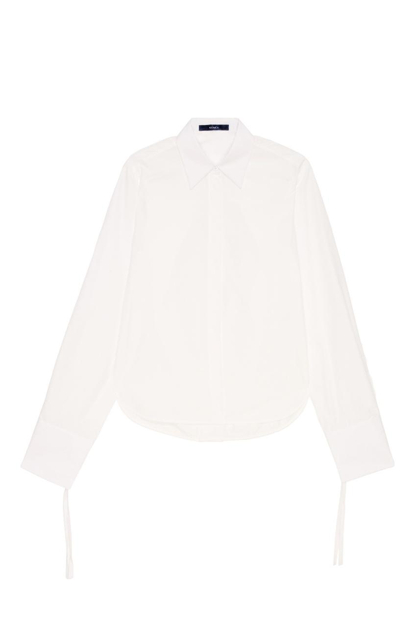 MO&Co Белая хлопковая рубашка осенние новый пиджак обрезанное корейской версии новый осенний износ тонкая белая рубашка леди рукава белая рубашка