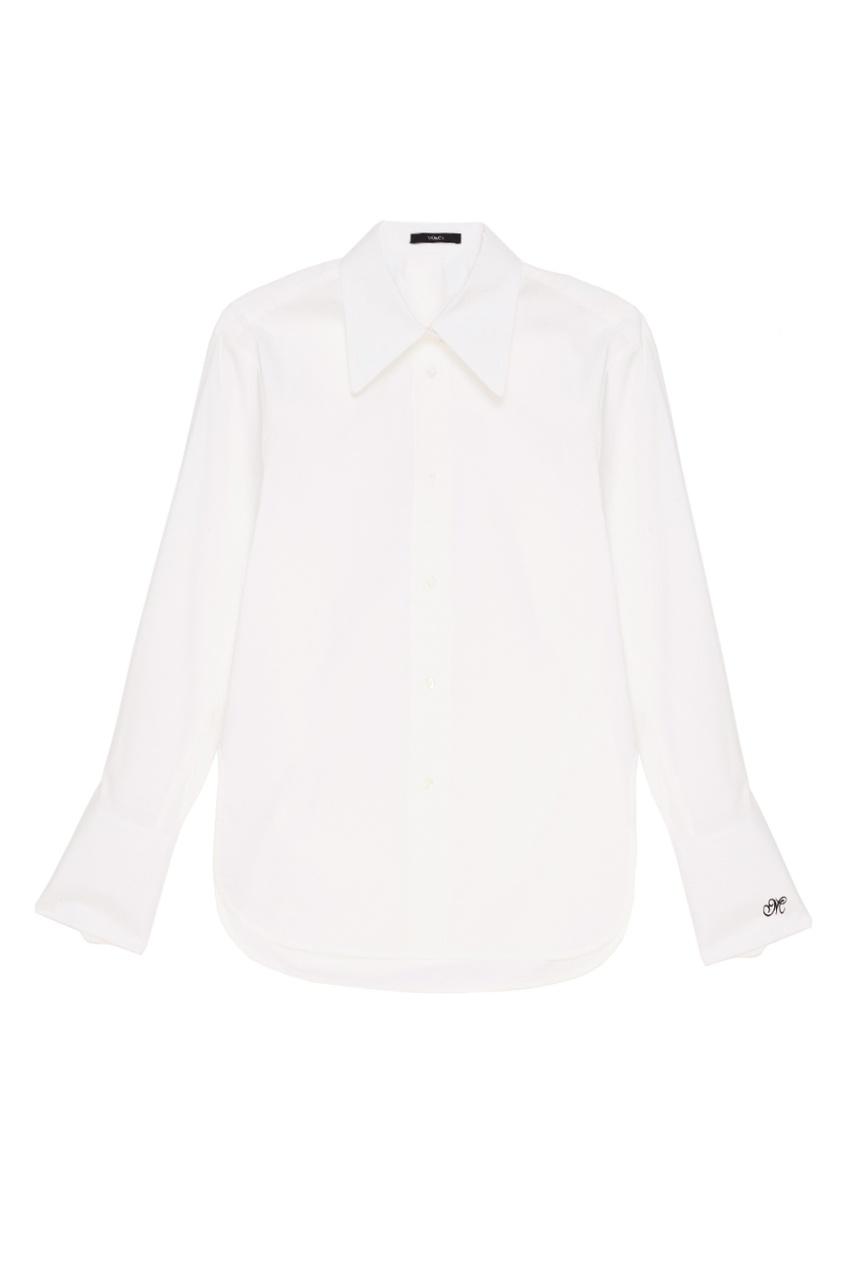 MO&Co Белая рубашка из хлопка осенние новый пиджак обрезанное корейской версии новый осенний износ тонкая белая рубашка леди рукава белая рубашка