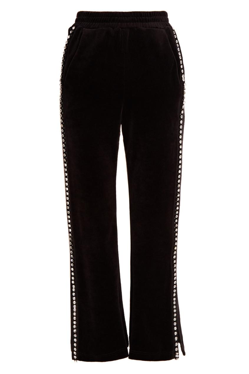 Бархатные брюки с кристаллами