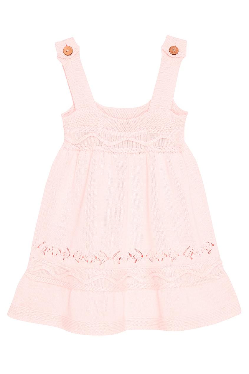 Вязаное платье розового цвета