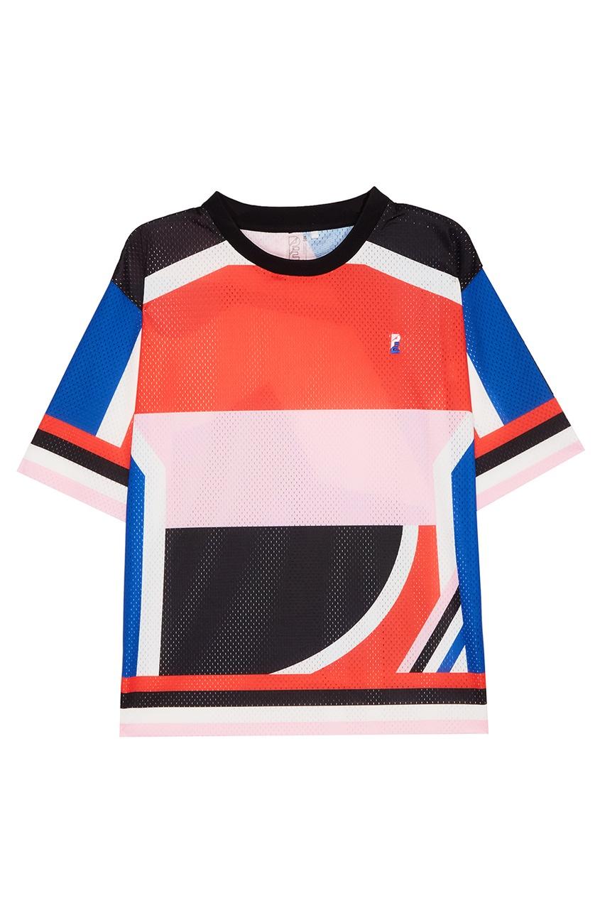 P.E Nation Сетчатая спортивная футболка футболка 560 с короткими рукавами спортивная для малышей розовая