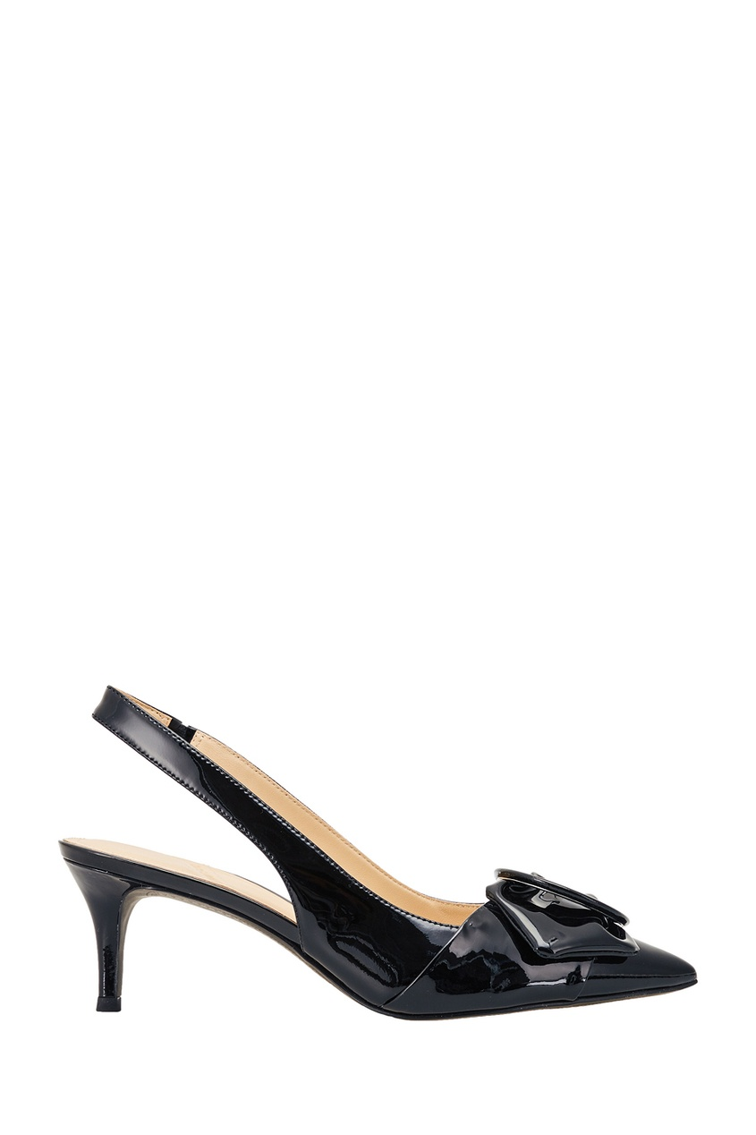Черные лакированные туфли с пряжкой What For