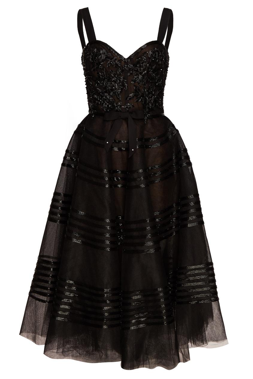 Marchesa Платье с пышным подолом вечернее платье от юдашкина