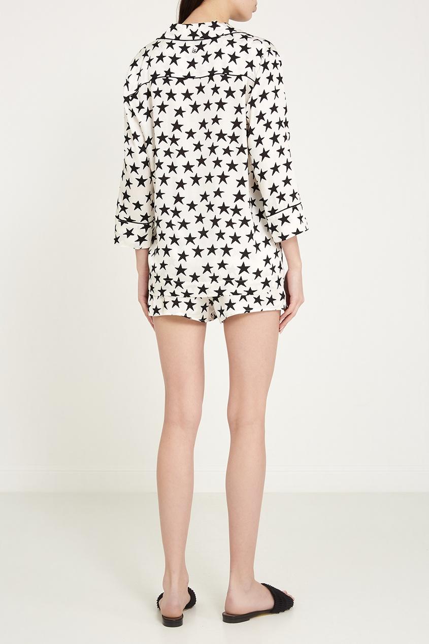 Love Stories Белые шорты со звездами пижамные комплекты