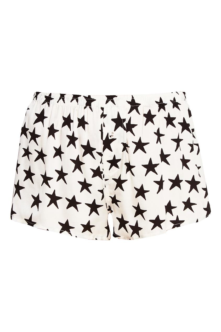 Купить со скидкой Белые шорты со звездами