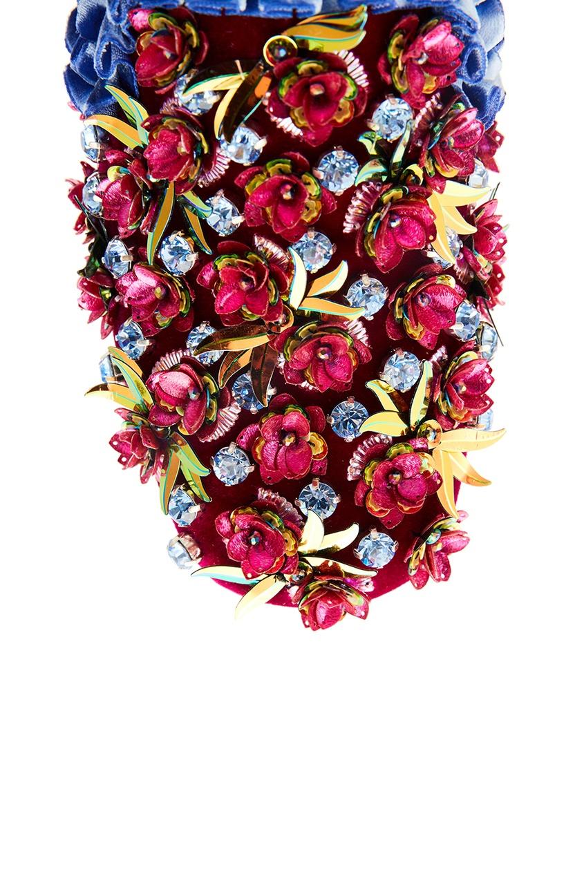 Бархатные мюли с цветами Babouchkaflor 35 от AIZEL