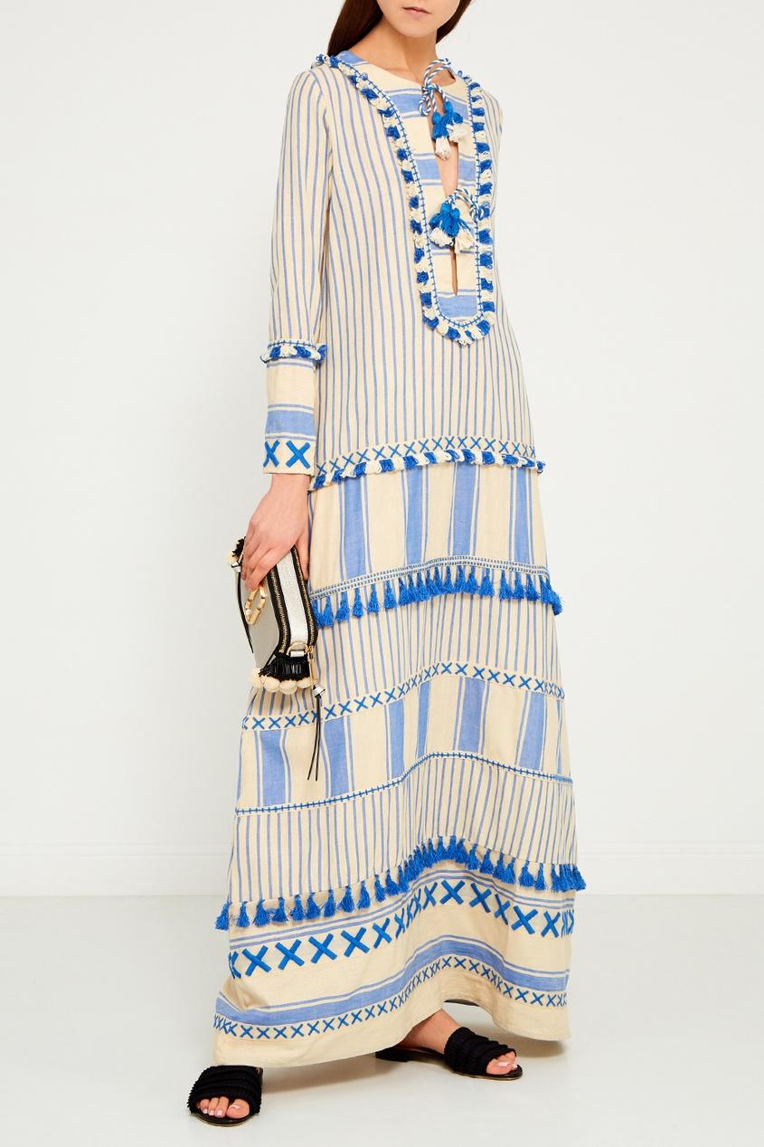 Dodo Bar Or Голубое платье из хлопка Samuelle платье голубое в белый горошек