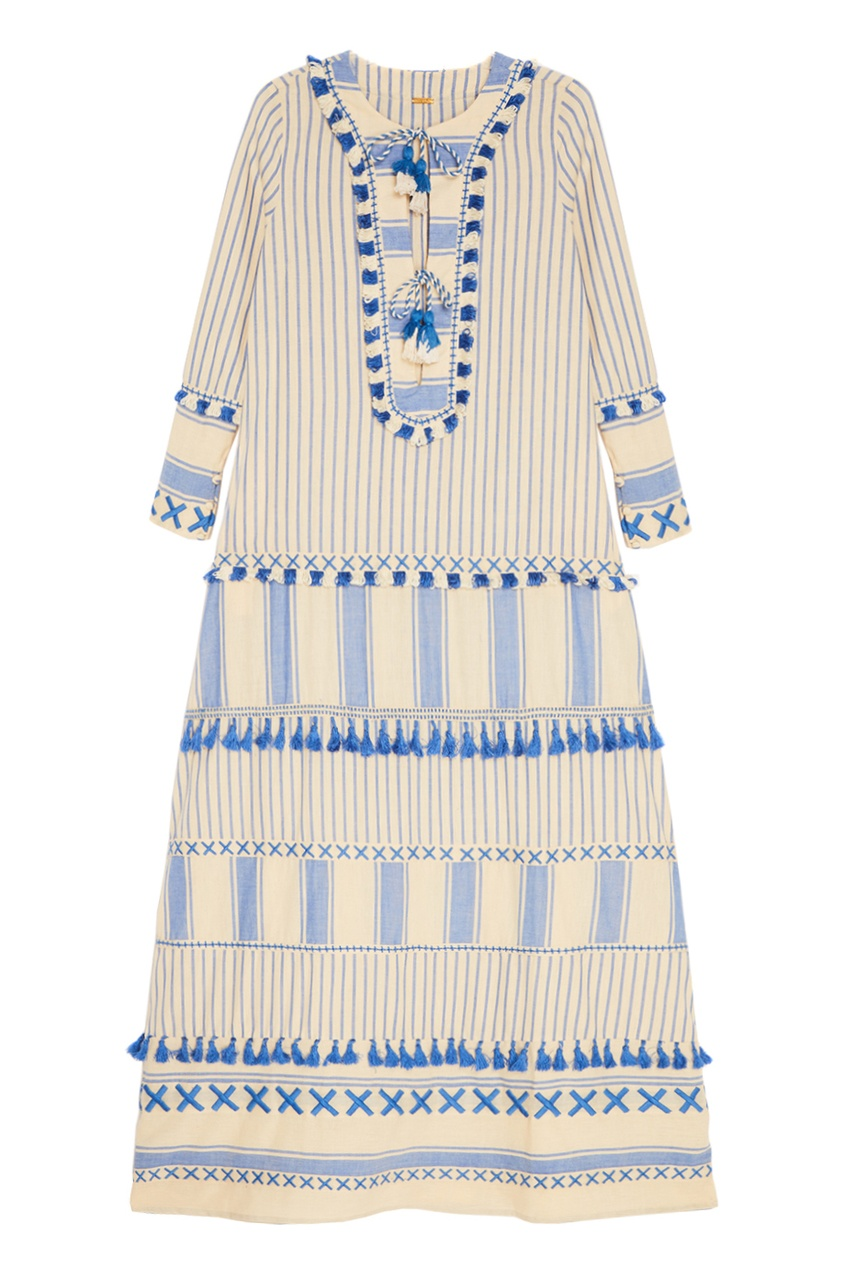 Голубое платье из хлопка Samuelle