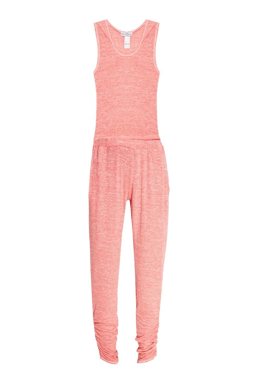 Фото #1: Розовый комбинезон с драпировками