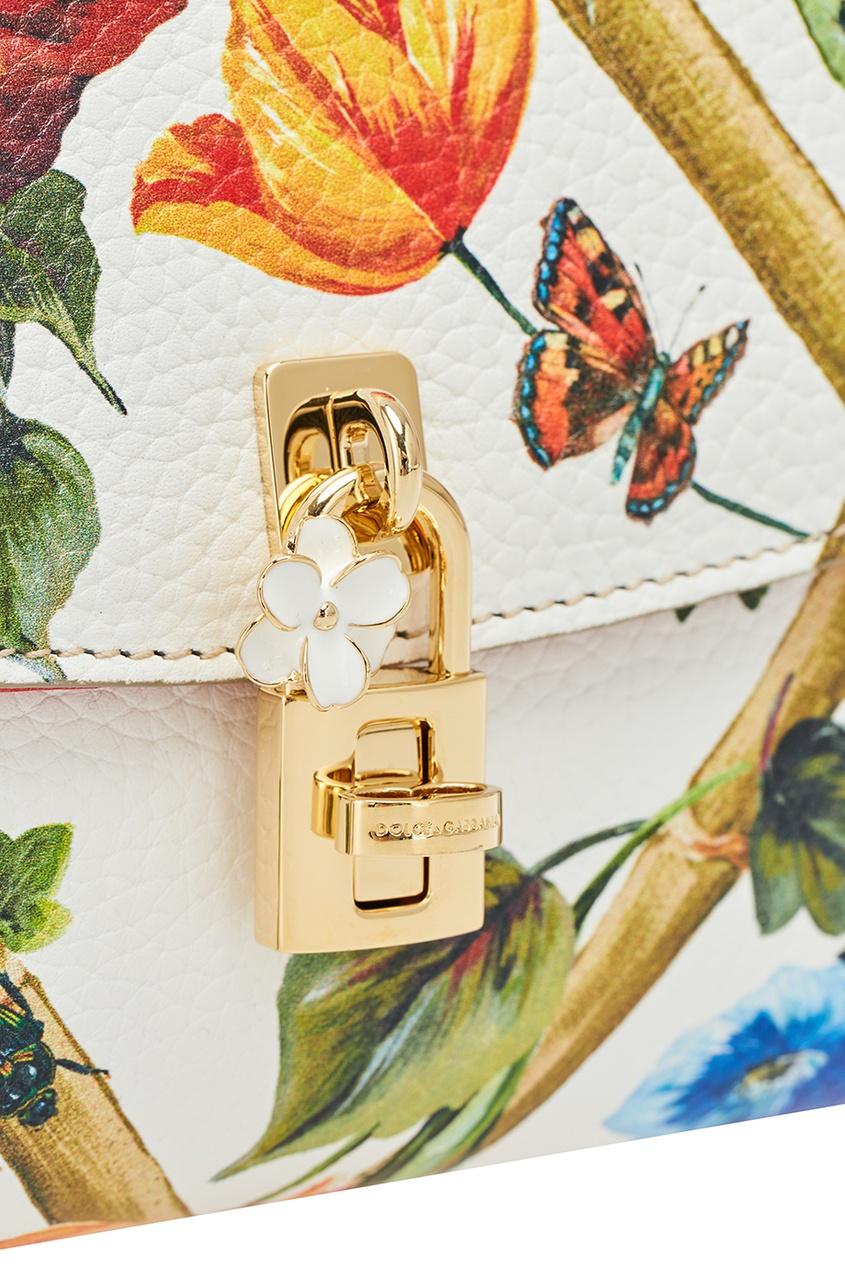 Dolce&Gabbana Кожаная сумка с цветами сумка dolce gabbana tara dolce