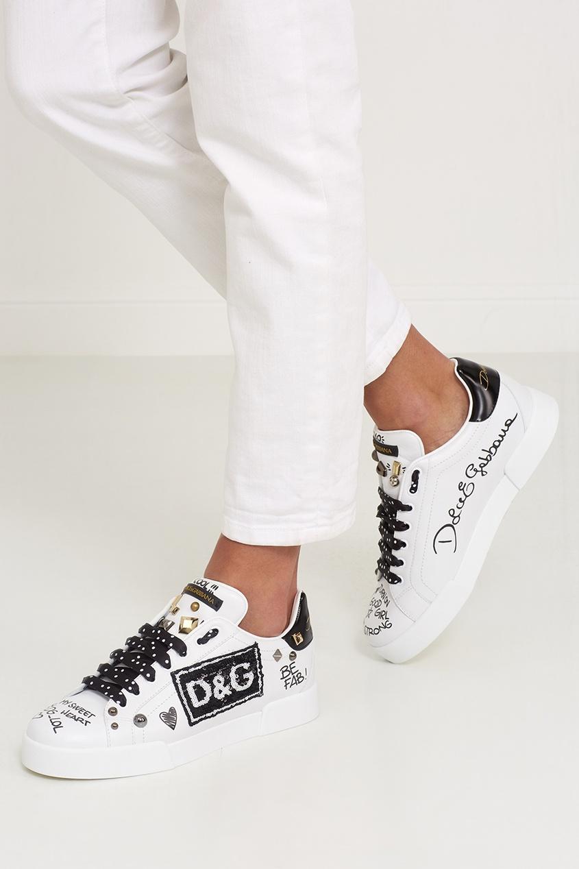 Белые кроссовки Dolce&Gabbana