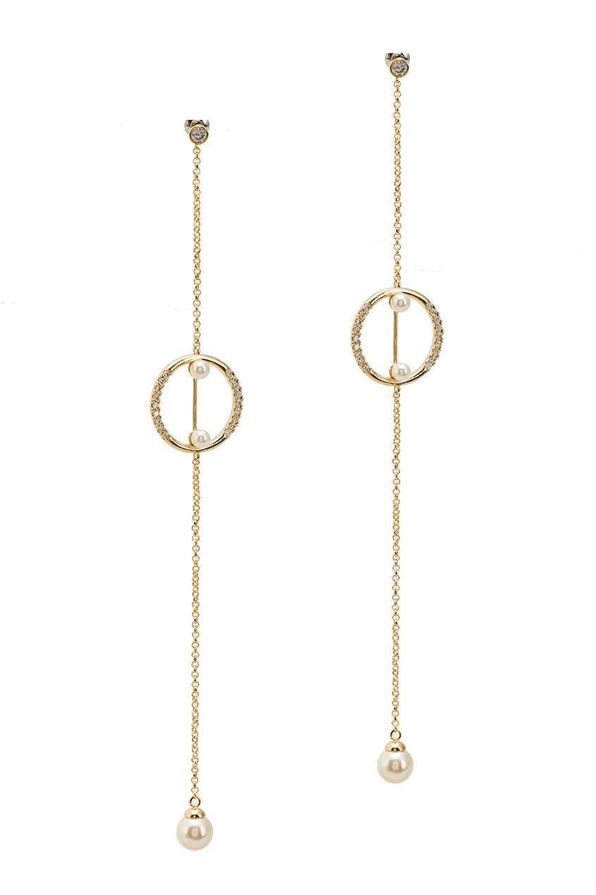 Золотистые серьги с цепями