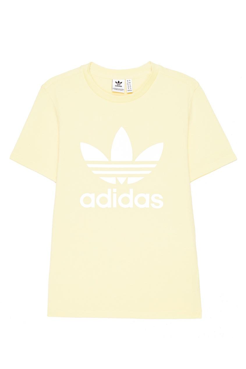 Adidas Желтая футболка с логотипом adidas футболка