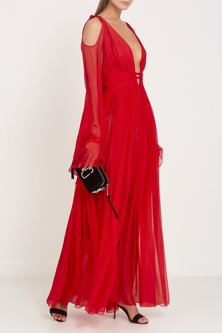 Dundas Драпированное платье из шелка laroom платье с вырезами на плечах