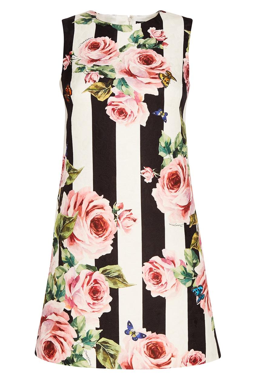 Платье-мини из хлопка и шелка