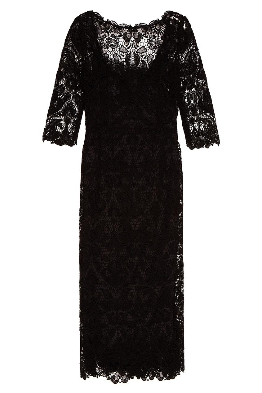 Dolce&Gabbana Платье из хлопкового кружева кружевное платье на бретелях dolce