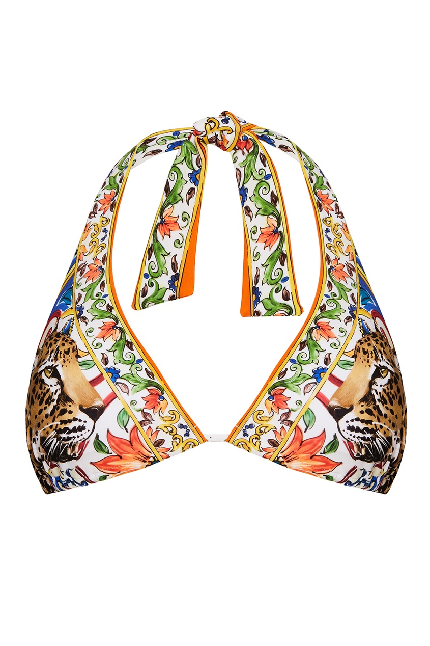 Dolce&Gabbana Раздельный купальник с принтом «майолика»